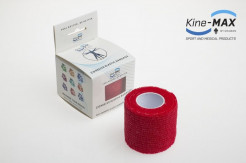 KINE-MAX COHESIVE ELASTIC BANDAGE ELASTICKÁ SAMOFIXAČNÍ BANDÁŽ 5cm x 4,5m - Červená
