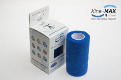 KINE-MAX COHESIVE ELASTIC BANDAGE ELASTICKÁ SAMOFIXAČNÍ BANDÁŽ 10cm x 4,5m - Modrá
