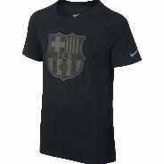 NIKE FC BARCELONA CREST TEE YTH TRIKO DĚTSKÉ - Černá