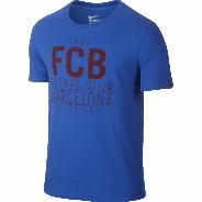 NIKE FCB SQUAD TEE TRIKO PÁNSKÉ - Modrá