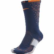 NIKE ELITE MATCHFIT HYPERVENOM CREW PONOŽKY - Tmavě modrá, Oranžová
