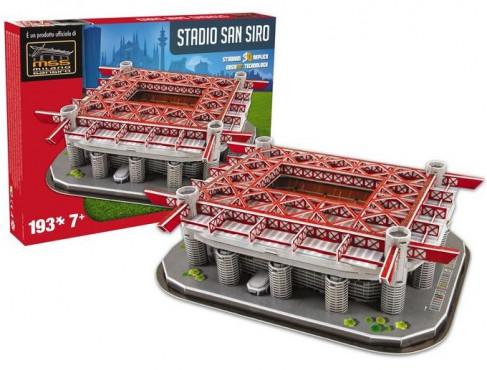 3D PUZZLE FOTBALOVÝ STADION - SAN SIRO - Bílá, Červená č.2