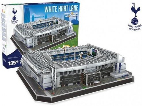 3D PUZZLE FOTBALOVÝ STADION - WHITE HART LANE (TOTTENHAM) - Bílá č.2