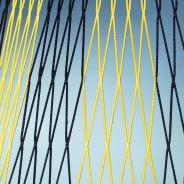 FOTBALOVÁ SÍŤ DVOUBAREVNÁ 107 4 mm 7,5x2,5x0,8x1,5m - Černá, Žlutá