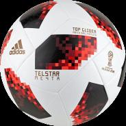 ADIDAS WORLD CUP TGLID FOTBALOVÝ MÍČ - Bílá, Červená